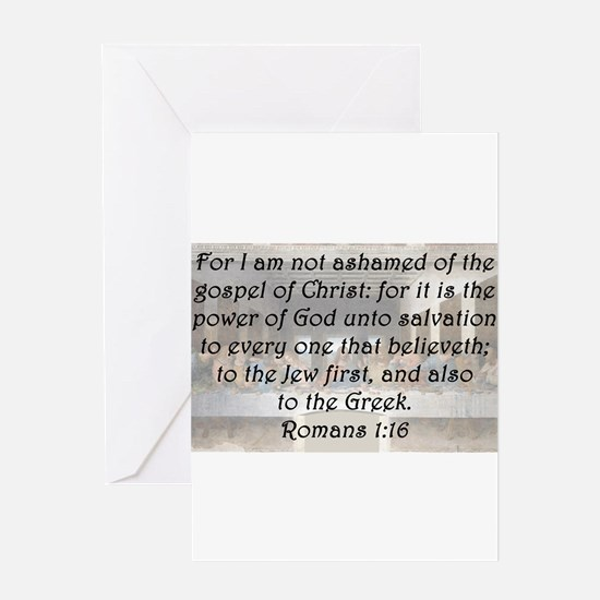 Romans 1:16 Greeting Card