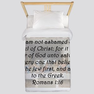 Romans 1:16 Twin Duvet