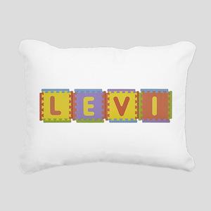 Levi Foam Squares Rectangular Canvas Pillow
