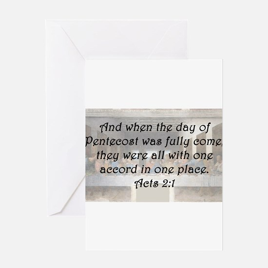 Acts 2:1 Greeting Card