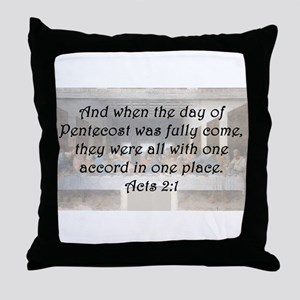 Acts 2:1 Throw Pillow