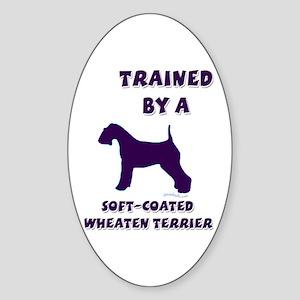Wheaten Ppl Oval Sticker