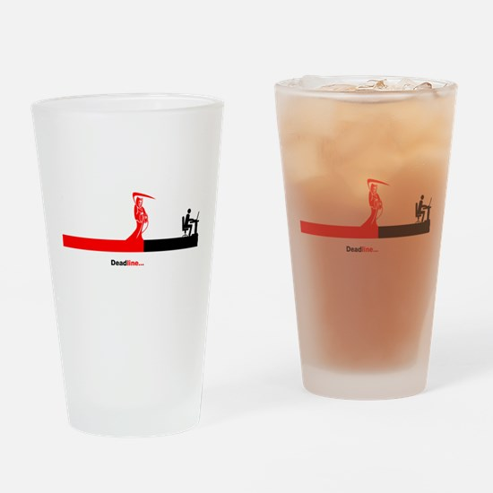 Deadline Drinking Glass