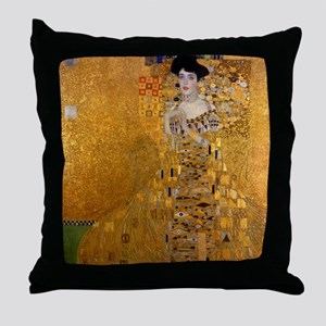 Adele Bloch Bauer by Klimt, Painting Throw Pillow