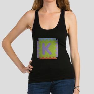 K Foam Squares Racerback Tank Top