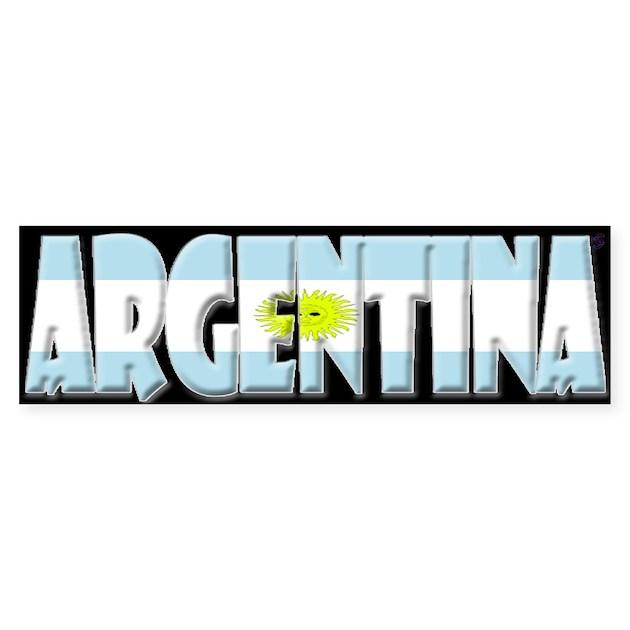 Word art flag of argentina bumper bumper sticker by coolcups maxwellsz gallery