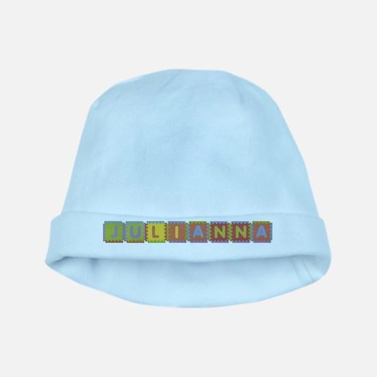 Julianna Foam Squares baby hat