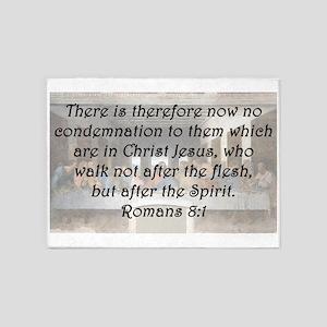 Romans 8:1 5'x7'Area Rug