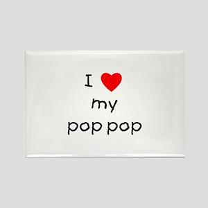 I love my pop pop Rectangle Magnet