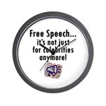 Free Speech..Not Just Celebrities Wall Clock