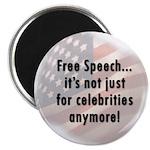 Free Speech..Not Just Celebrities Magnet