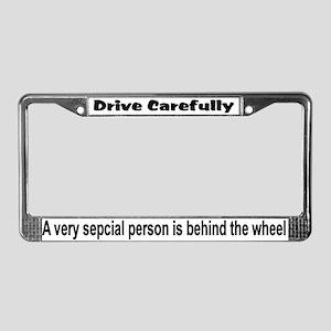 """Drive Carefully"" License Plate Frame"
