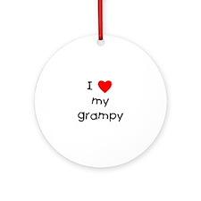 I love my grampy Ornament (Round)