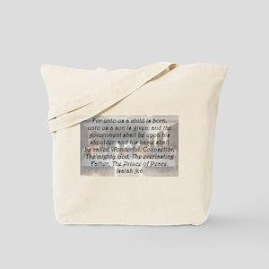 Isaiah 9:6 Tote Bag