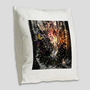 Fairy Tales Burlap Throw Pillow