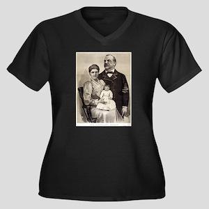 The Cleveland family - 1893 Women's Plus Size V-Ne