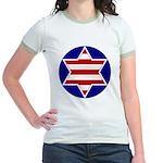 Hebrew Flag Emblem Jr. Ringer T-Shirt