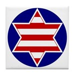 Hebrew Flag Emblem Tile Coaster