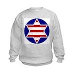 Hebrew Flag Emblem Kids Sweatshirt