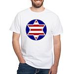 Hebrew Flag Emblem White T-Shirt