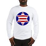 Hebrew Flag Emblem Long Sleeve T-Shirt
