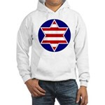 Hebrew Flag Emblem Hooded Sweatshirt