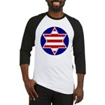 Hebrew Flag Emblem Baseball Jersey