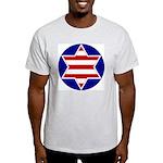 Hebrew Flag Emblem Ash Grey T-Shirt