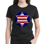 Hebrew Flag Emblem Women's Dark T-Shirt