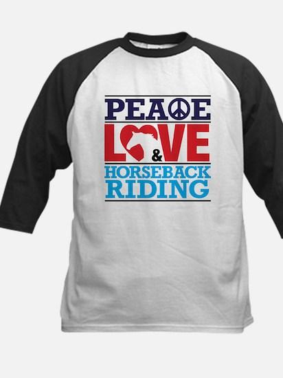 Peace Love and Horseback Riding Baseball Jersey