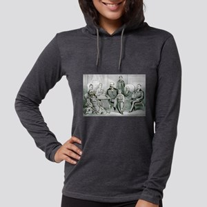 The Garfield family - 1882 Womens Hooded Shirt