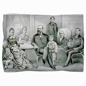 The Garfield family - 1882 Pillow Sham