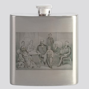 The Garfield family - 1882 Flask