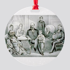 The Garfield family - 1882 Round Ornament