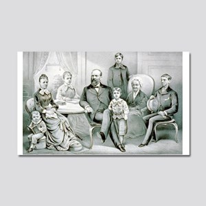 The Garfield family - 1882 Car Magnet 20 x 12