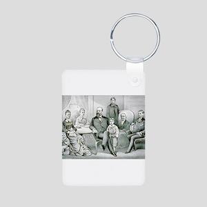 The Garfield family - 1882 Aluminum Photo Keychain