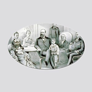 The Garfield family - 1882 20x12 Oval Wall Decal