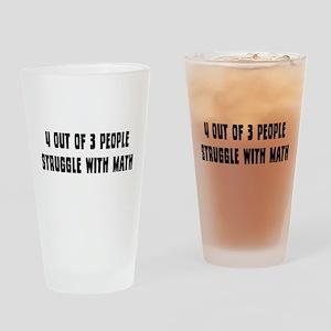 Math Struggle Drinking Glass