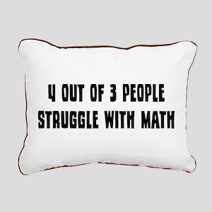 Math Struggle Rectangular Canvas Pillow