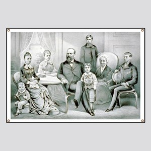 The Garfield family - 1882 Banner