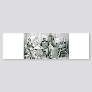 The Garfield family - 1882 Sticker (Bumper)