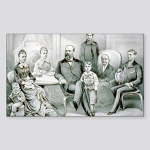 The Garfield family - 1882 Sticker (Rectangle)