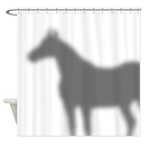 Horse Shadow Shower Curtain