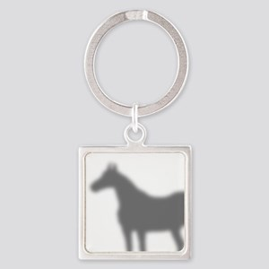 Horse Shadow Square Keychain