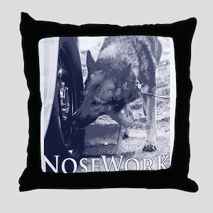 German Shepard Dog Nose Work K9 Throw Pillow
