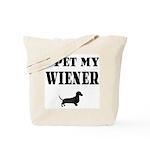 I Pet My Wiener dachshund Tote Bag