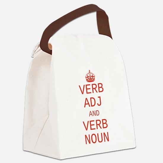 CUSTOM TEXT Keep Calm Canvas Lunch Bag