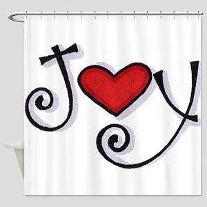 Joy.jpg Shower Curtain