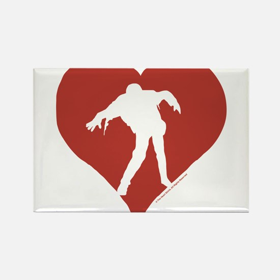 Love – Zombies Rectangle Magnet