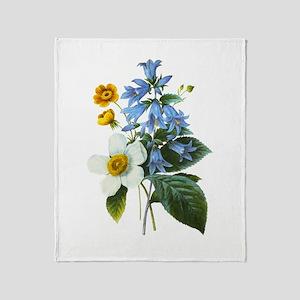 Redoute Bouquet Throw Blanket